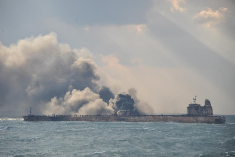 UPDATES: The burning Sanchi Drifts into Japanese exclusive economic zone
