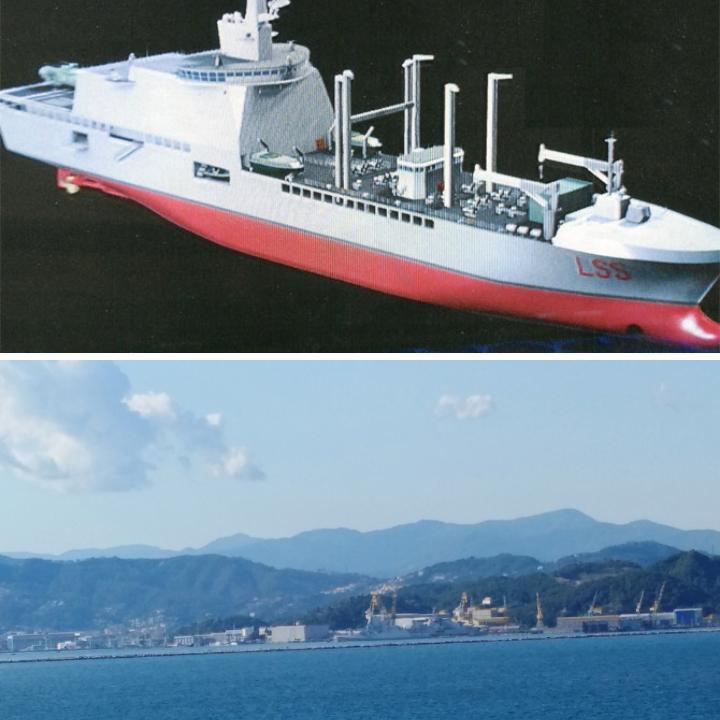 Italian Navy Logistics Support Ship (LSS) Caught fire in La Spezia