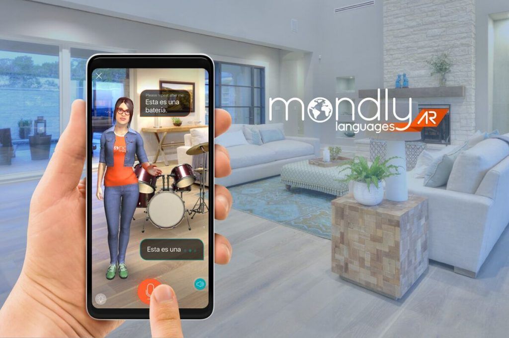 Learn languages in augmented reality