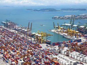 Ship and port image