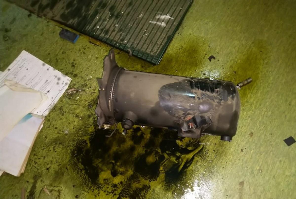Exploded Air compressor cylinder