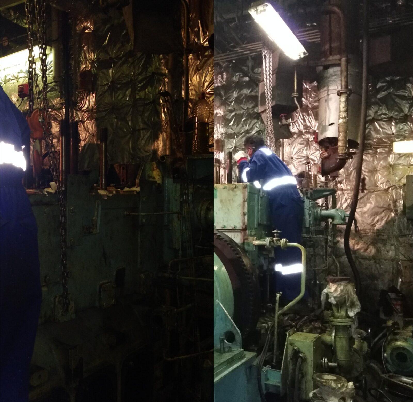 Ship blackout restoration process